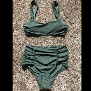 Aerie side strap scoop bikini top